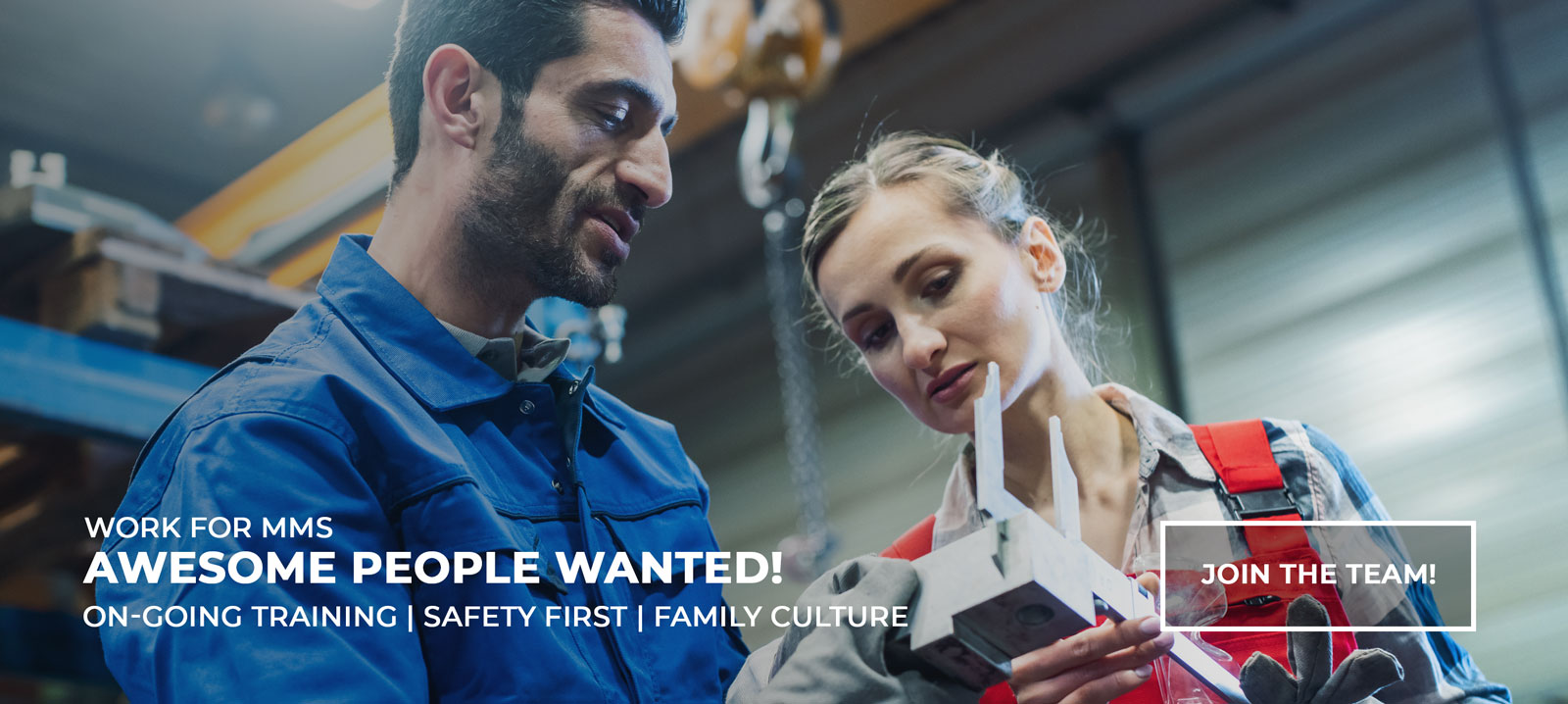 Work for MMS - Awesome People Wanted! Ongoing Training - Safety First - Family Culture - CLICK HERE TO LEARN MORE!